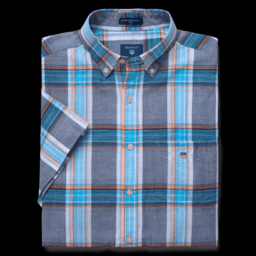 Short Sleeved Indian Madras Shirt