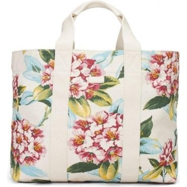 Spring Flower Canvas Tote