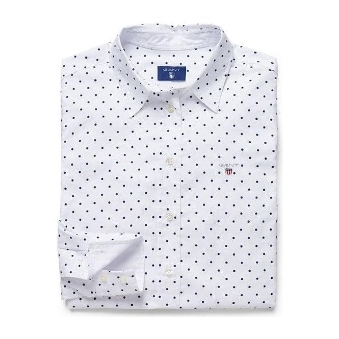 GANT Stretch Oxford Printed Dot Shirt