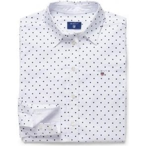 Stretch Oxford Printed Dot Shirt