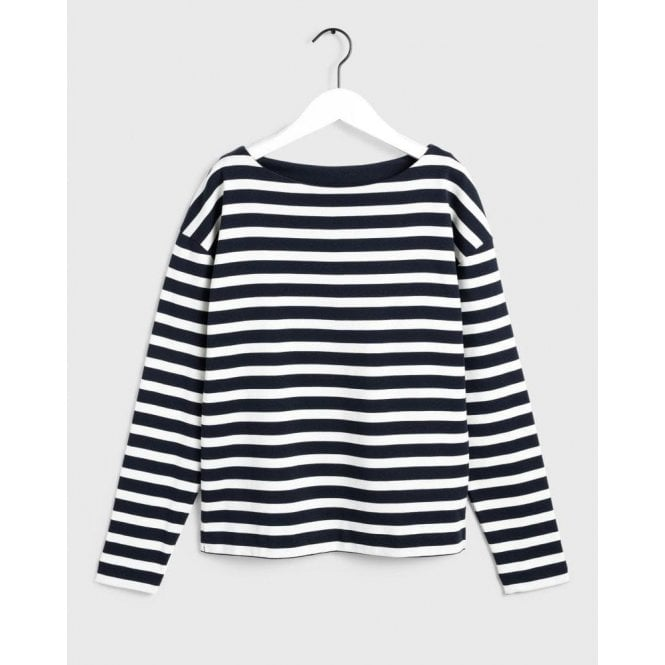 GANT Striped Boatneck Sweatshirt