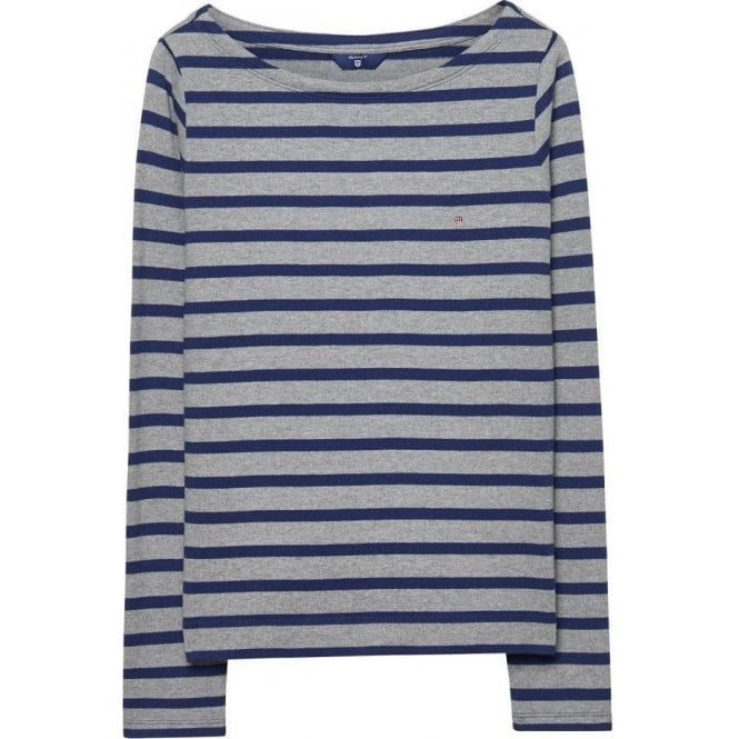 GANT Striped Boatneck Tee
