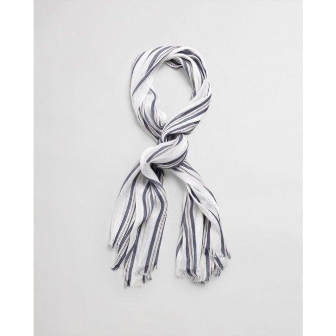 GANT Striped Cotton Linen Scarf