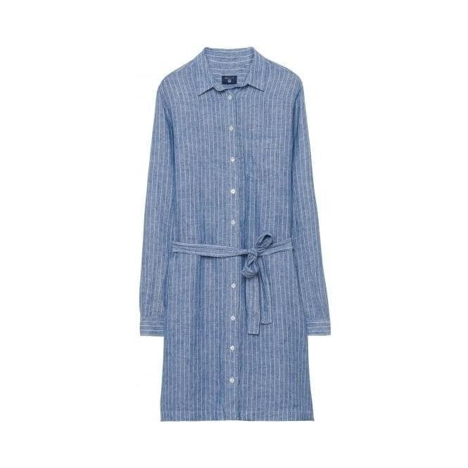 GANT Striped Linen Shirtdress