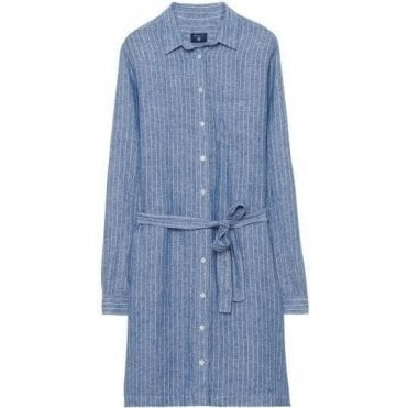 Striped Linen Shirtdress