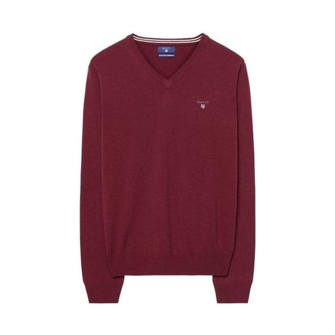 GANT Super Fine Lambswool V-Neck Sweater