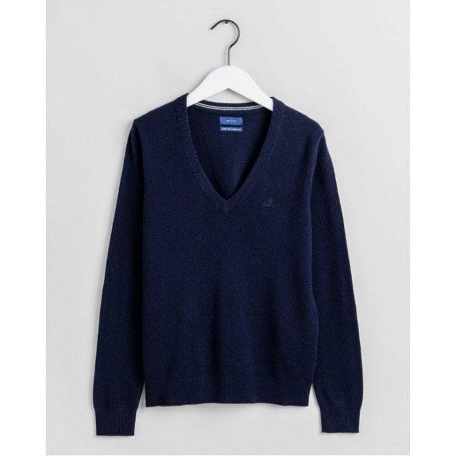 GANT Super Fine Lambswool V-Neck Sweater