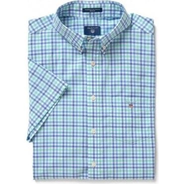 The Short Sleeved Broadcloth Three-Color Gingham Shirt