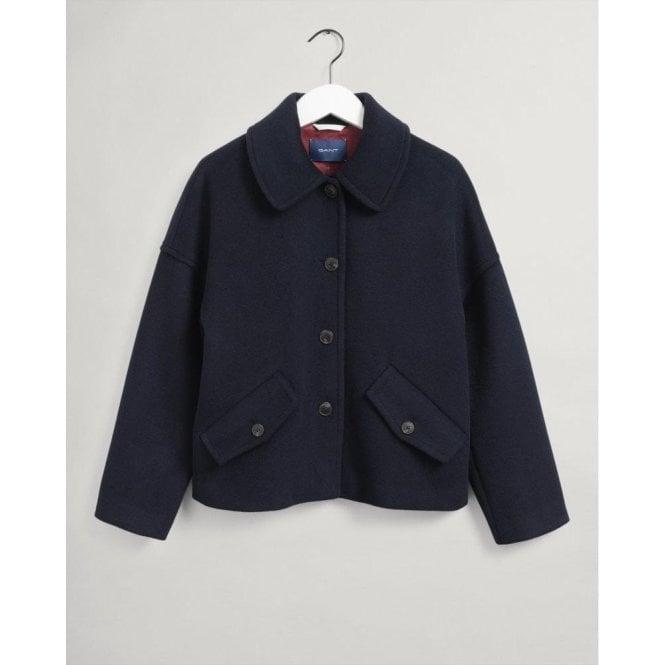GANT Wool-Blend Cropped Jacket