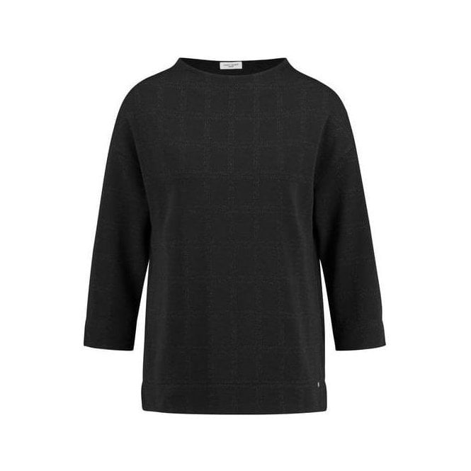 Gerry Weber 3/4-sleeve top with a lift-up collar