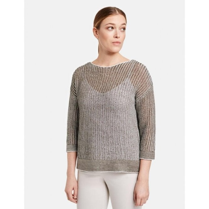 Gerry Weber 3/4 Sleeves Two-Tone Jumper