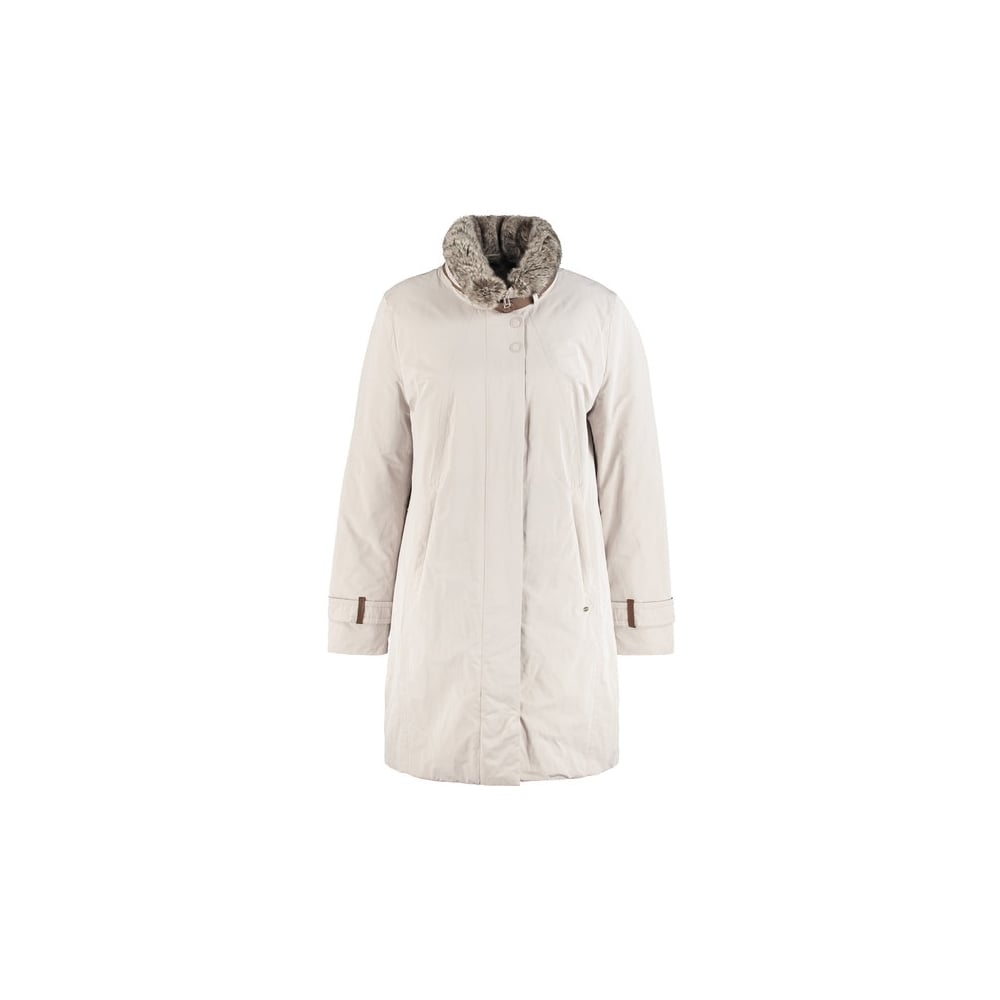 Gerry Weber Short Coat With A Fake Fur Trim Women Latest Products Hood