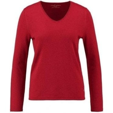 V-neck cashmere jumper