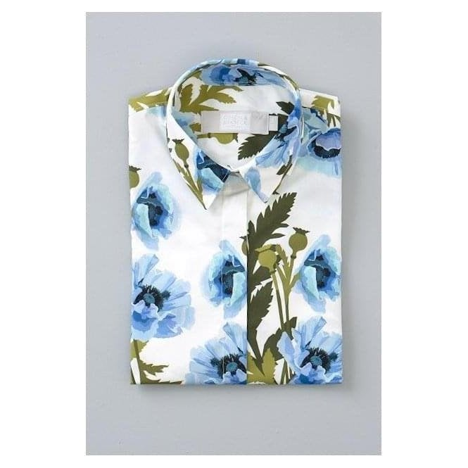 Gibson & Birkbeck Blue Poppy Shirt