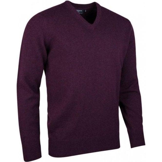 Glenmuir Lomond - Mens V Neck Lambswool Golf Sweater