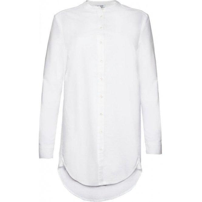 Great Plains Oxford Long Sleeve Band Collar Longline Shirt