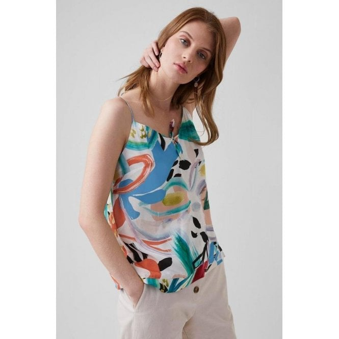 Great Plains Tropical Print Sleeveless Top