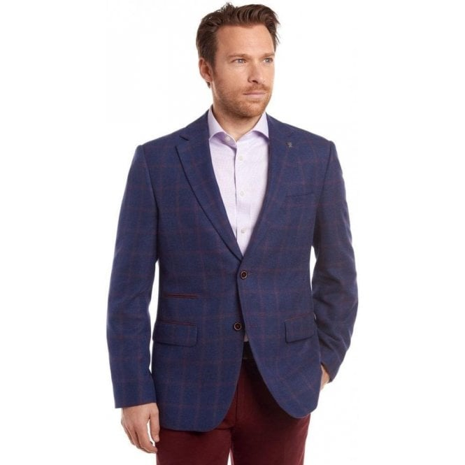 Gurteen Yarmouth Midnight Overcheck Jacket