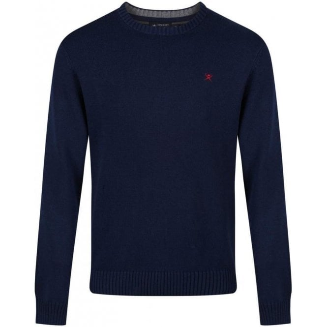 Hackett Cotton Crew Logo Sweater