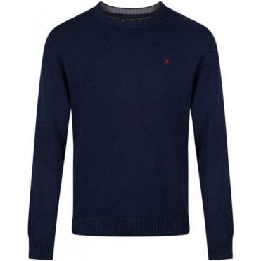 Cotton Crew Logo Sweater