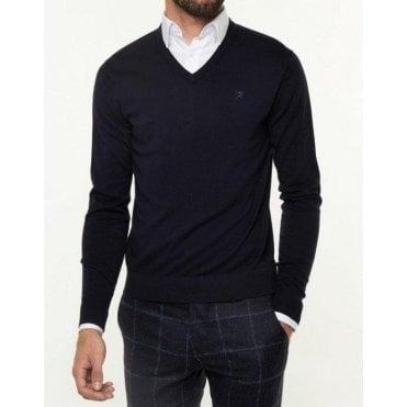 Cotton Silk Cashmere V Neck Jumper