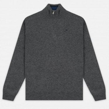 English Lambswool Halfzip Jumper