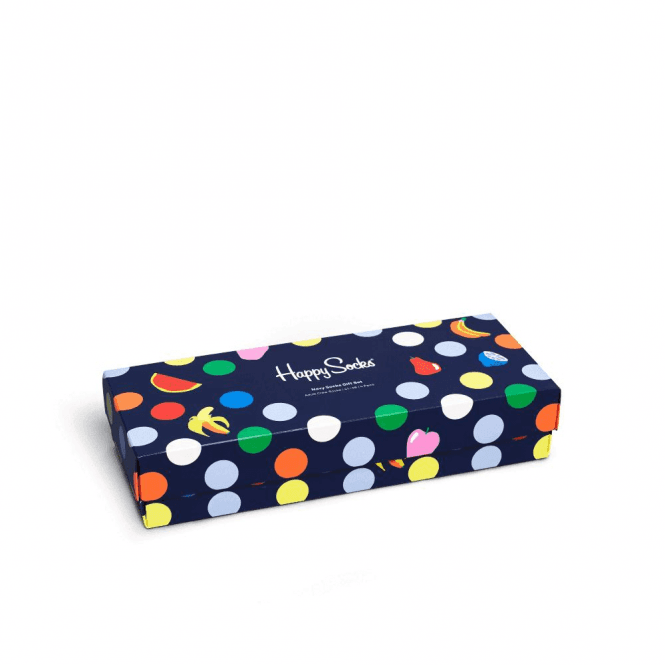 Happy Socks Navy Socks Gift Box 4-Pack