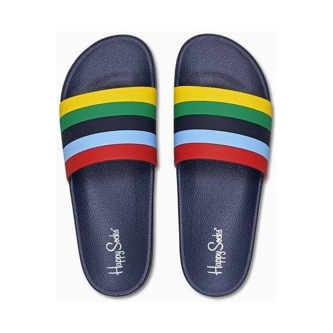 Happy Socks Pool Slider Stripe