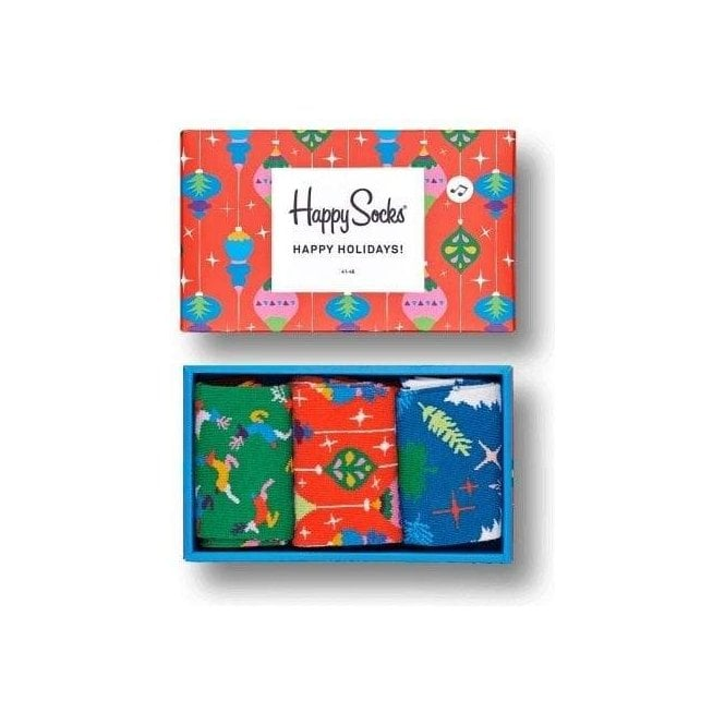 Happy Socks Singing Retro Holiday Gift Box