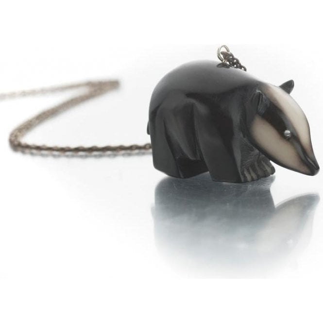 Just Trade Tagua Badger Pendant