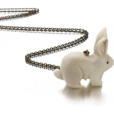 Tagua Rabbit Pendant