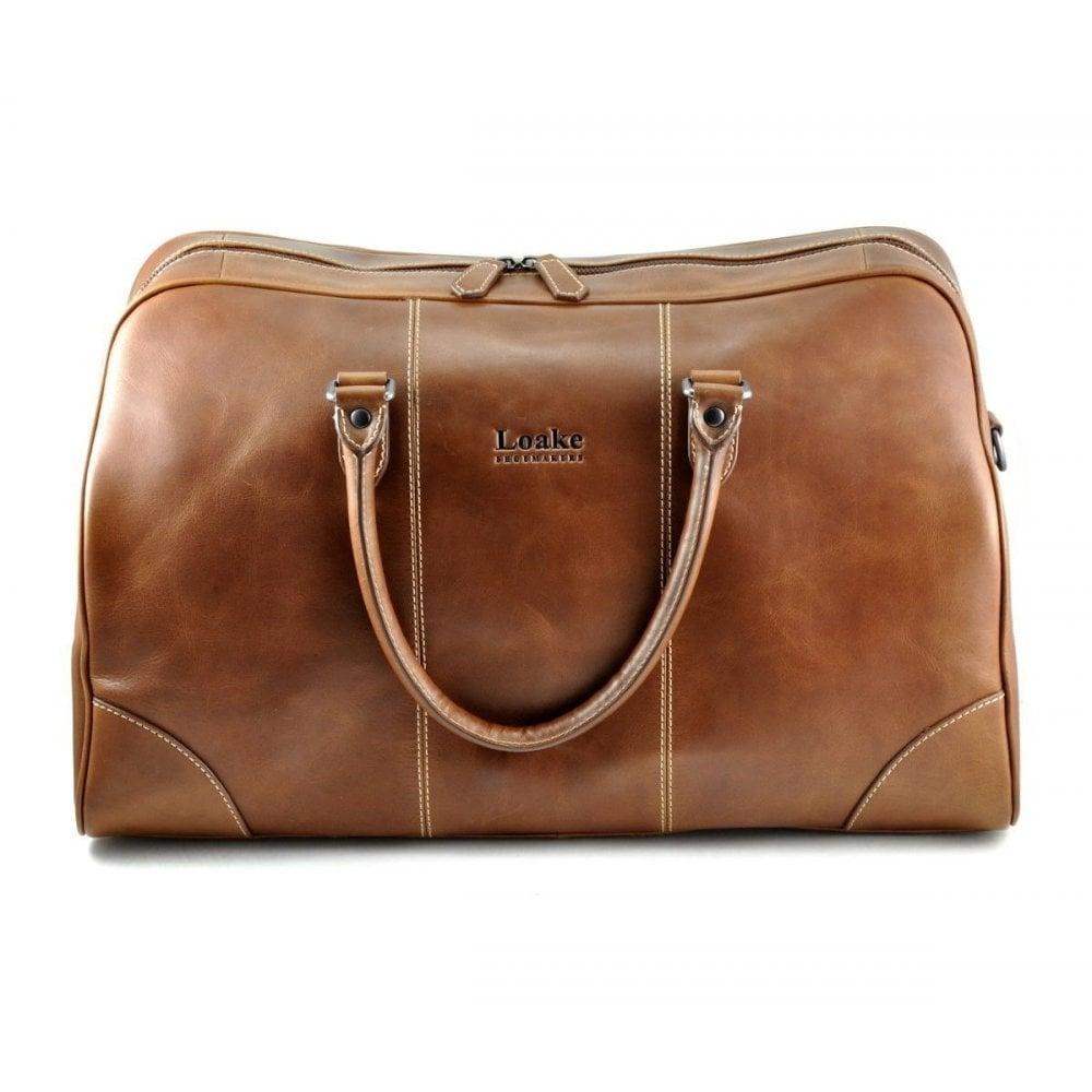 Loake Burghley Brown Overnight Bag - Mens Bags  O C Butcher 055af73fa072e
