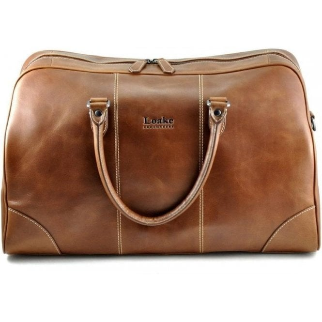 Loake Burghley Brown Overnight Bag
