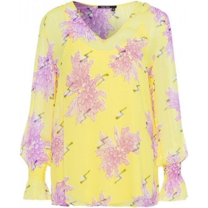 Marc Aurel All-over Floral Pattern Blouse Top