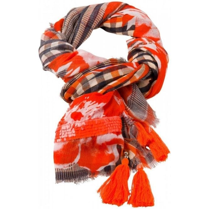 Marc Aurel Prince of Wales Check Pattern Scarf