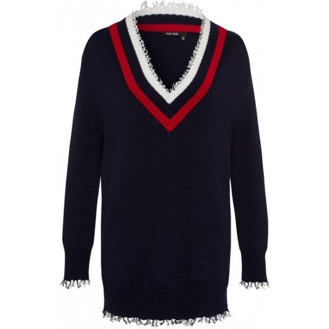 Marc Aurel Striped Trim Jumper