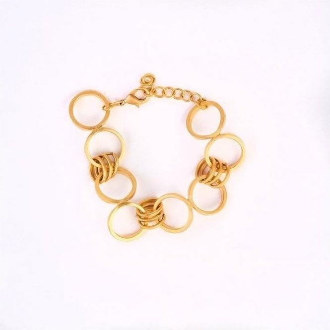 My Doris Adjustable Gold Circle Bracelet