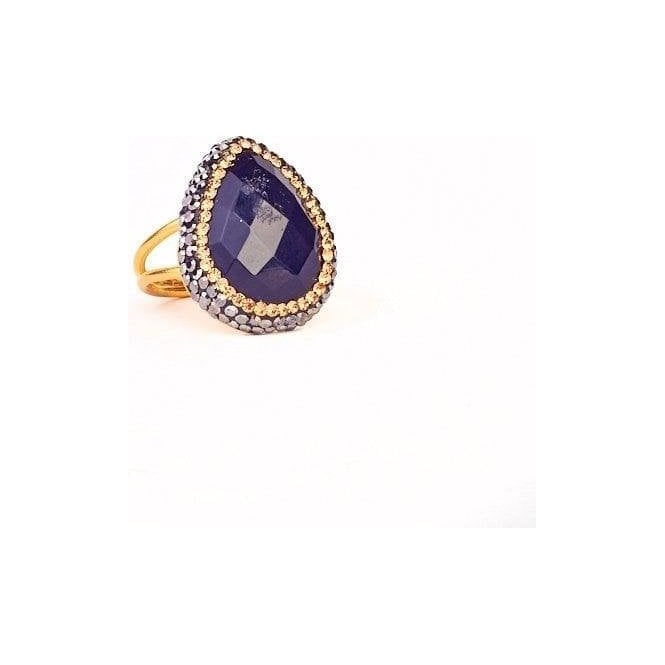 My Doris Adjustable Pave Ring