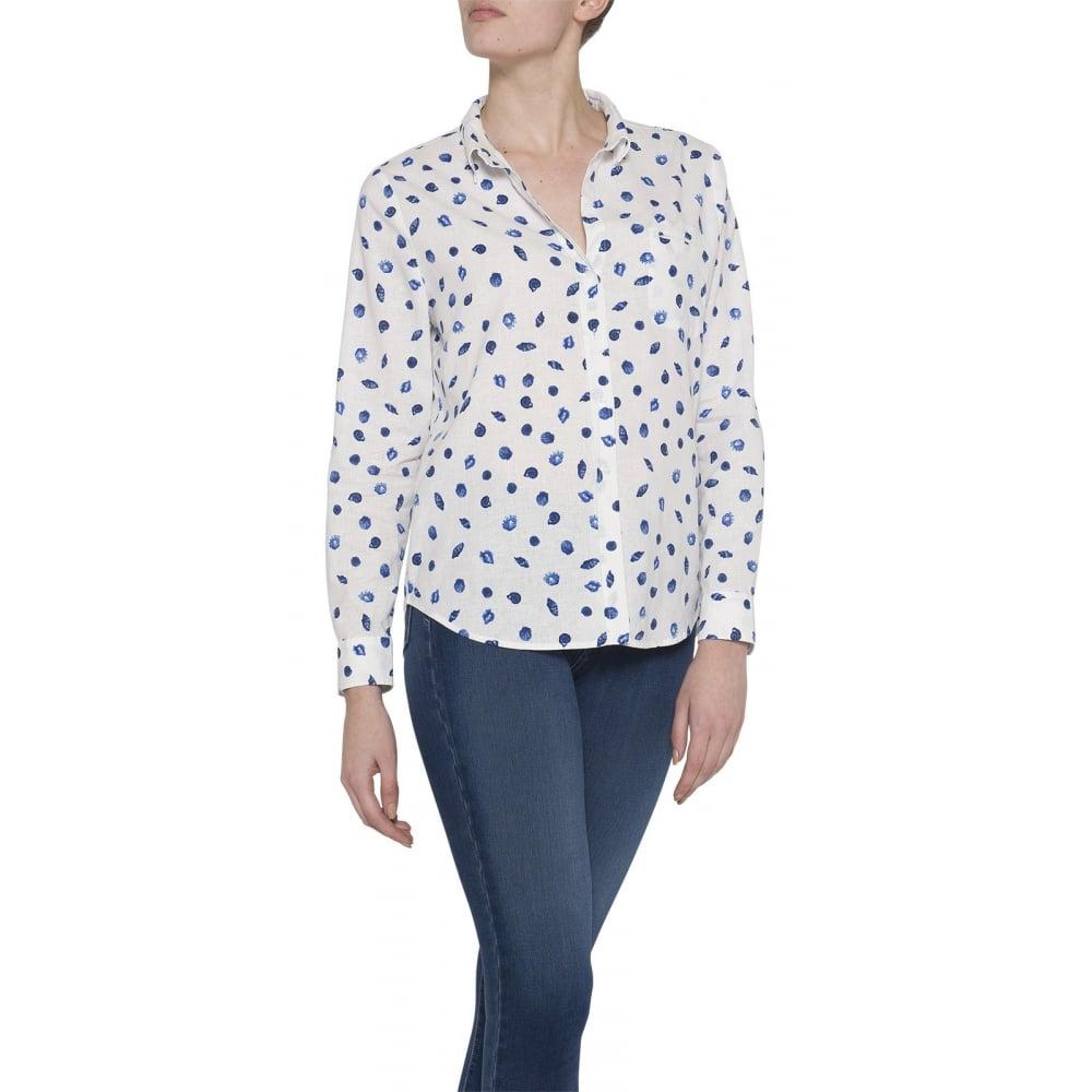 Nydj linen shirt womens shirts blouses o c butcher for Womens linen shirts blouses