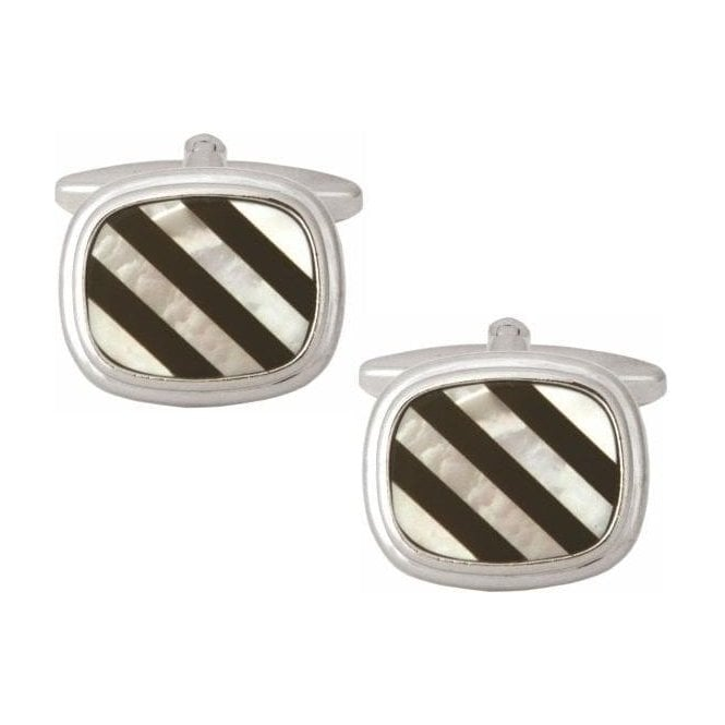O&C Butcher Diamond Design Cufflinks