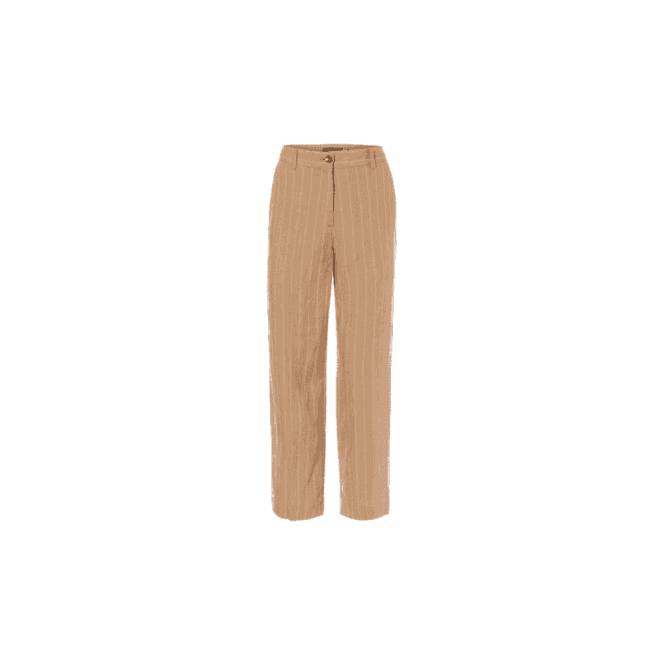 Olsen 100% Linen Anna Fit Wide Leg Cropped Linen Trousers