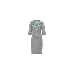 Animal Print Linen Dress