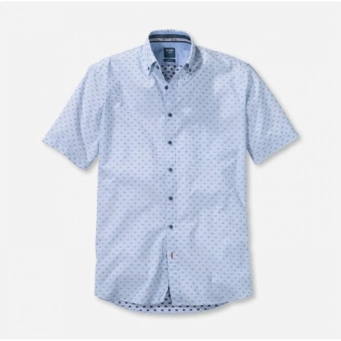 Olymp Short Sleeve Casual Modern Fit Shirt