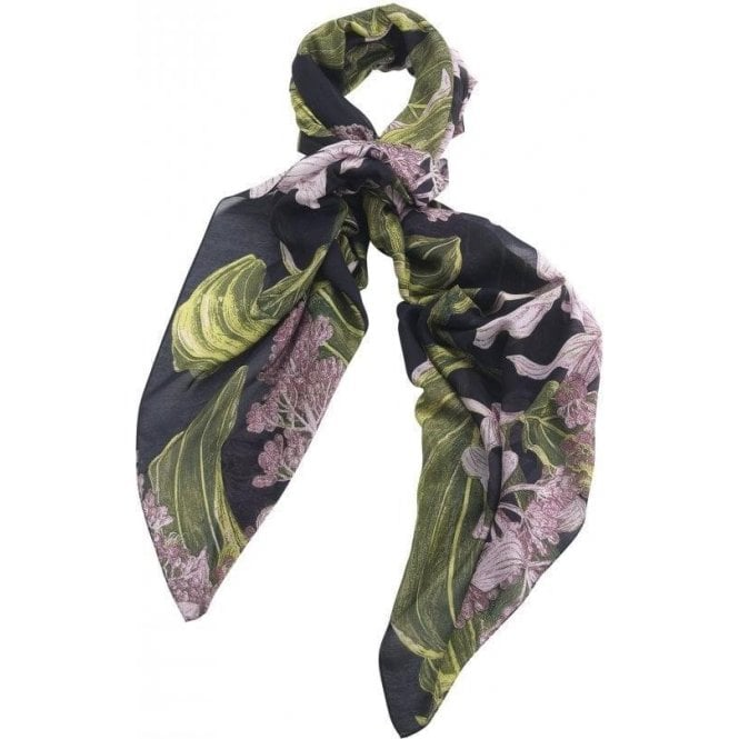 One Hundred Stars Marianne North Medinilla Black Scarf