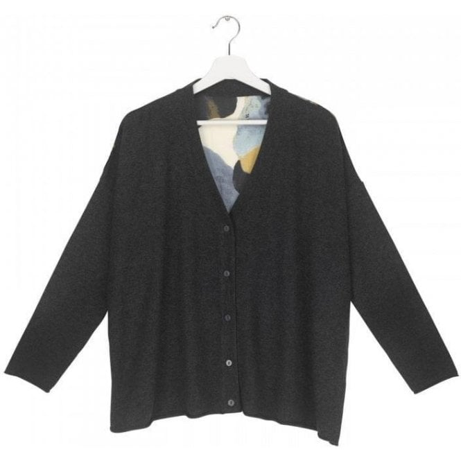 One Hundred Stars Pansy Charcoal Cashmere Mix Cardigan