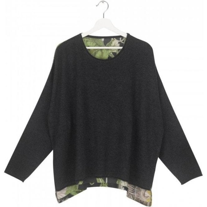 One Hundred Stars Passion Flower Charcoal Cashmere Mix Jumper