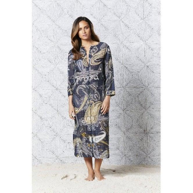 One Season Carmel Print India Dress