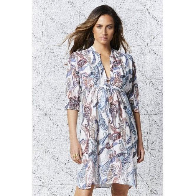 One Season Menorca Print Audrey Midi Dress