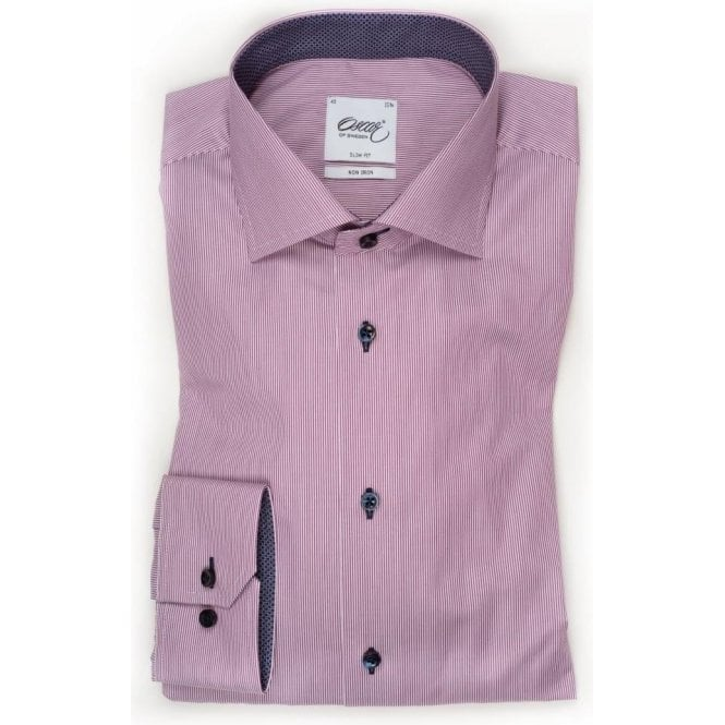 Oscar of Sweden Pinstriped Shirt With Trim