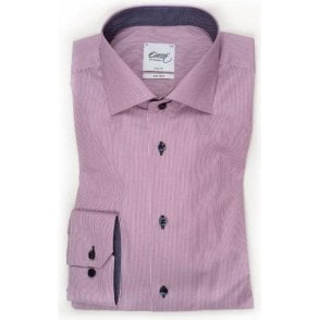 Pinstriped Shirt With Trim